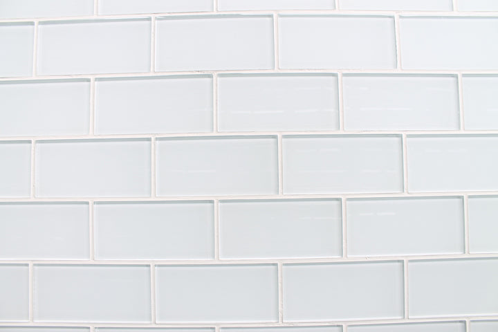Snow White 3x6 Glass Subway Tiles Rocky Point Tile