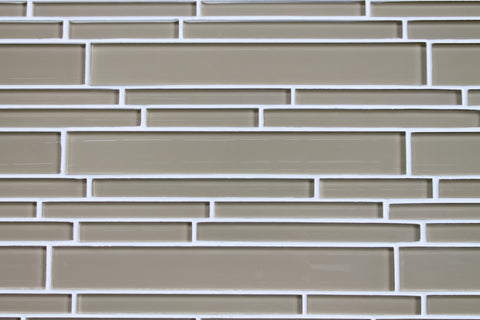 Beach Brown Linear Glass Mosaic Tile - Rocky Point Tile - Glass and Mosaic Tile Store