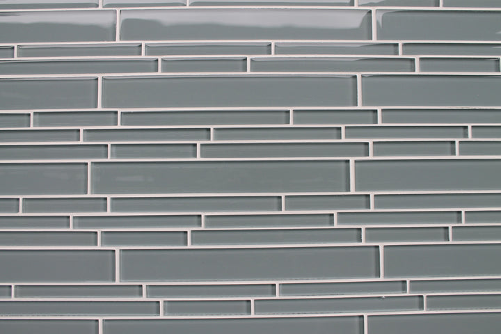 Chimney Smoke Gray Linear Glass Mosaic Tile – Rocky Point
