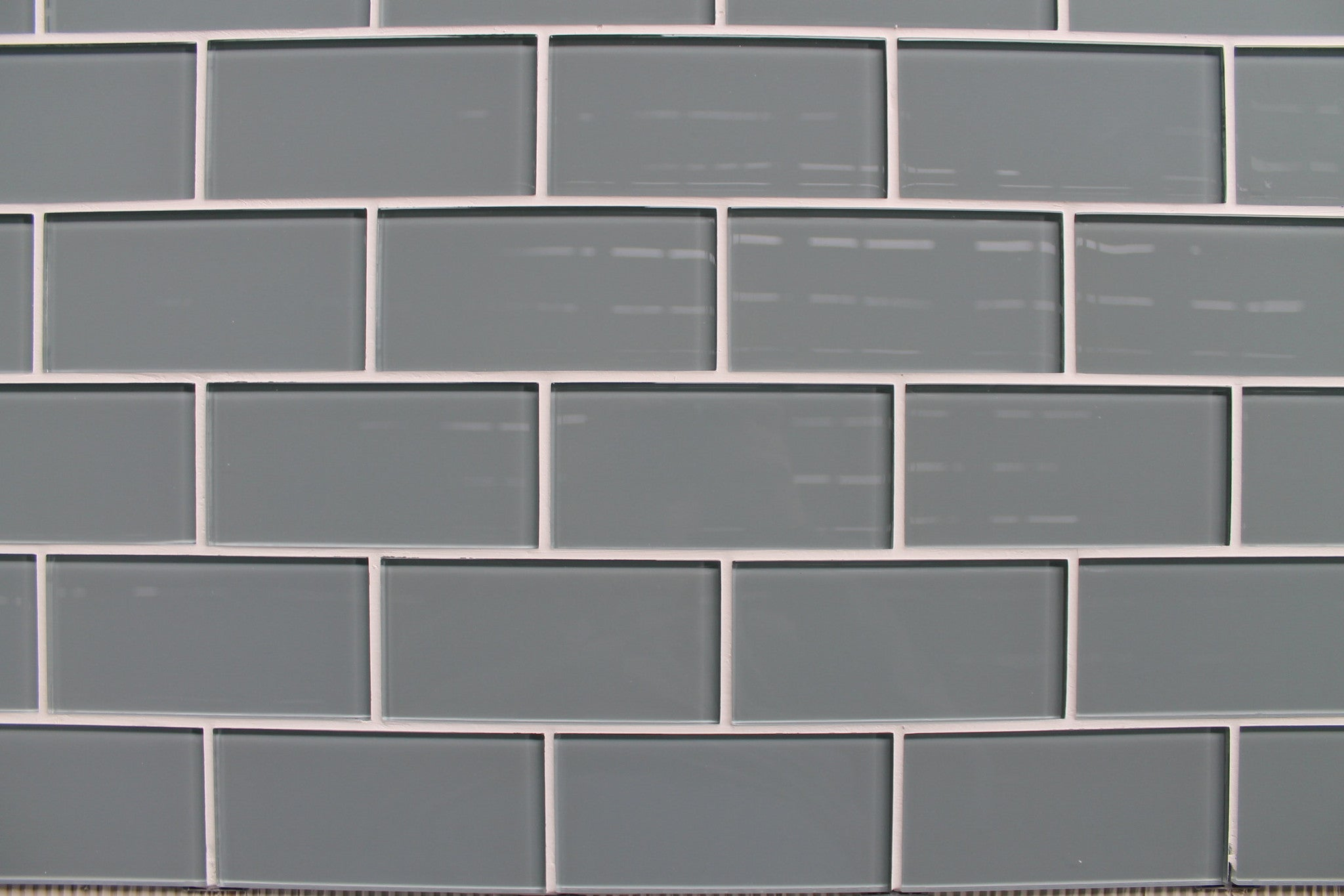 Chimney Smoke Gray 3x6 Glass Subway Tiles
