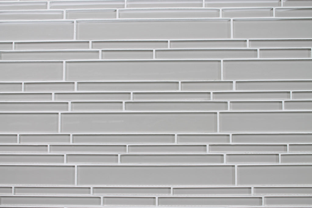 Country Cottage Light Taupe Linear Glass Mosaic Tile - Rocky Point Tile - Glass and Mosaic Tile Store