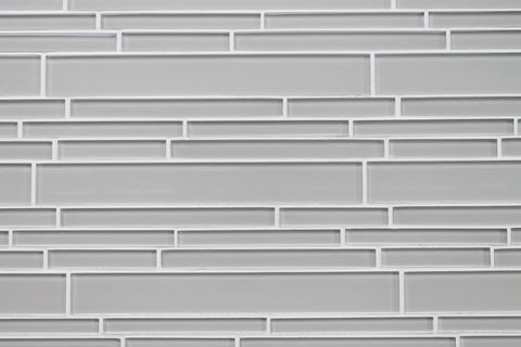 Country Cottage Light Taupe Linear Glass Mosaic Tile