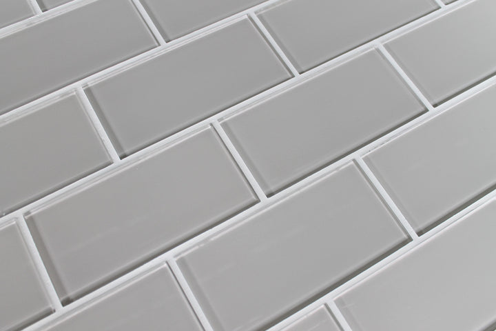Country Cottage Light Taupe 3x6 Glass Subway Tiles Rocky Point Tile Glass And