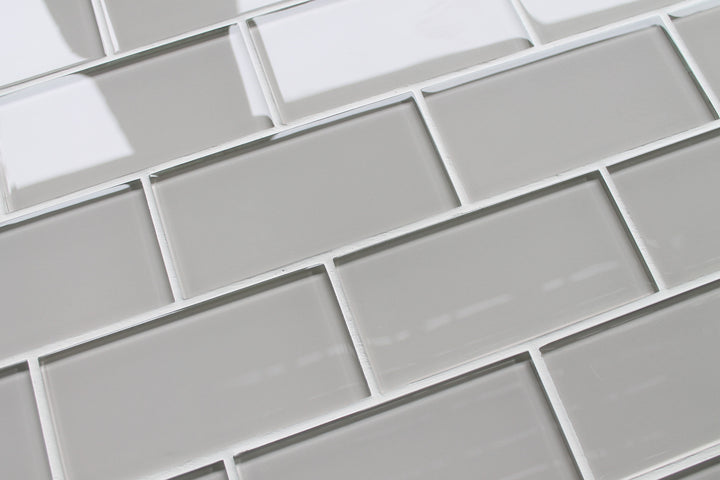 country cottage light taupe 3x6 glass subway tiles rocky point tile glass and mosaic