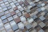 Vetro Italia Como Stone and Glass Square Mosaic Tiles - Rocky Point Tile - Glass and Mosaic Tile Store