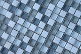 Bliss Iceland Stone and Glass Square Mosaic Tiles - Rocky Point Tile - Glass and Mosaic Tile Store