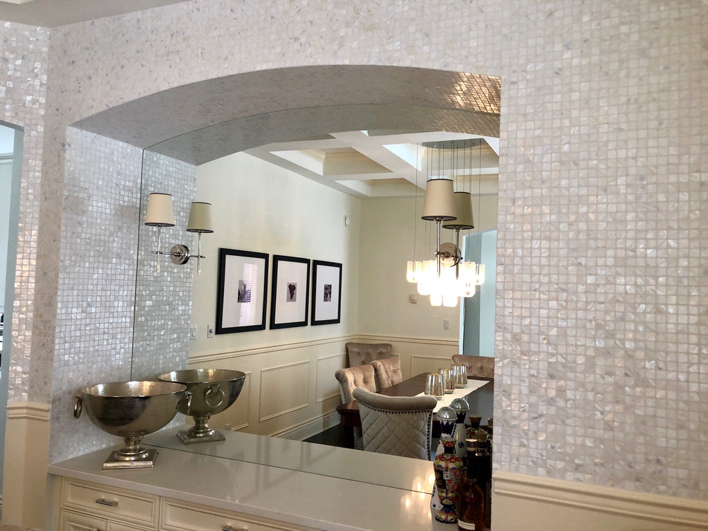 Mother Of Pearl Oyster White 1 Quot X 1 Quot Mosaic Tiles Rocky