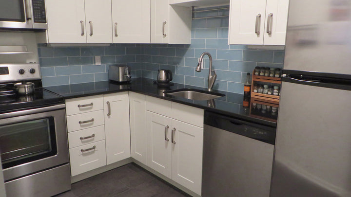 Jasper Blue Gray 4x12 Glass Subway Tiles Rocky Point Tile Glass And Mosaic Tile Store
