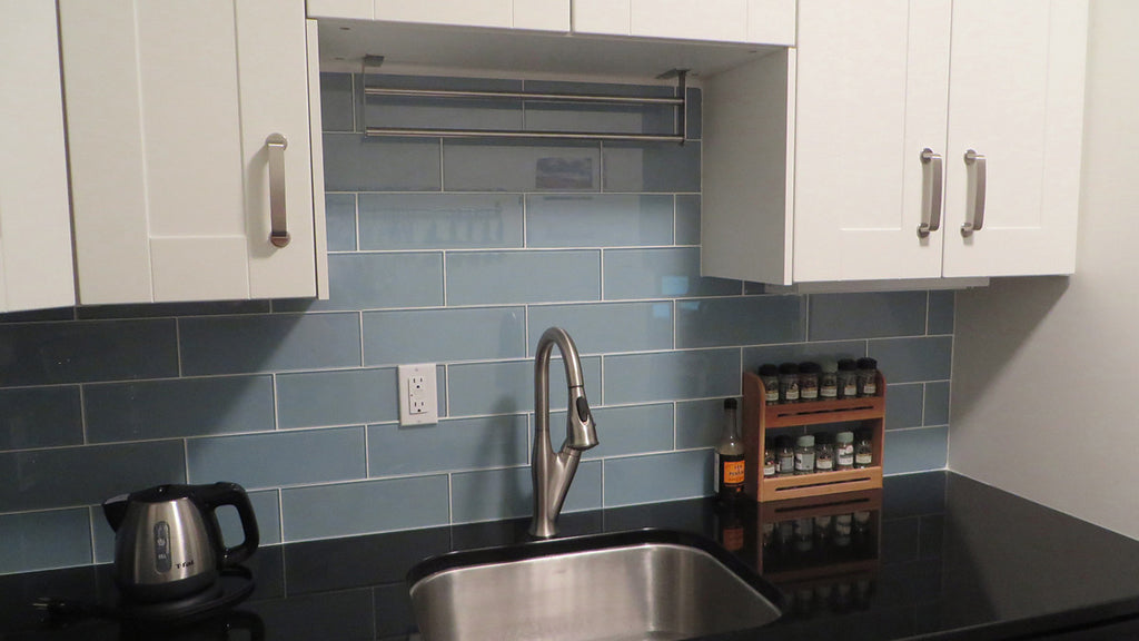 Jasper Blue Gray 4x12 Glass Subway Tiles Rocky Point