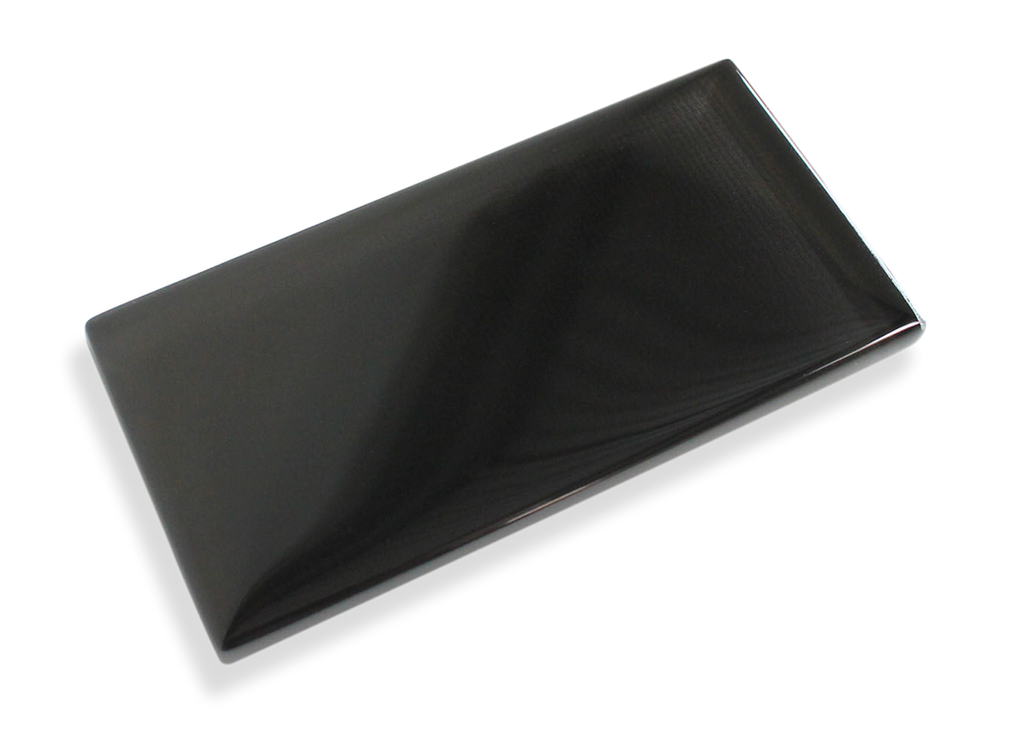 Jet Black Made To Order Glass Subway Tiles - Rocky Point Tile - Glass and Mosaic Tile Store