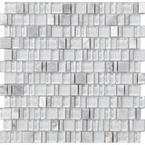 Karma Stone and Glass Mosaic Tiles - Frost