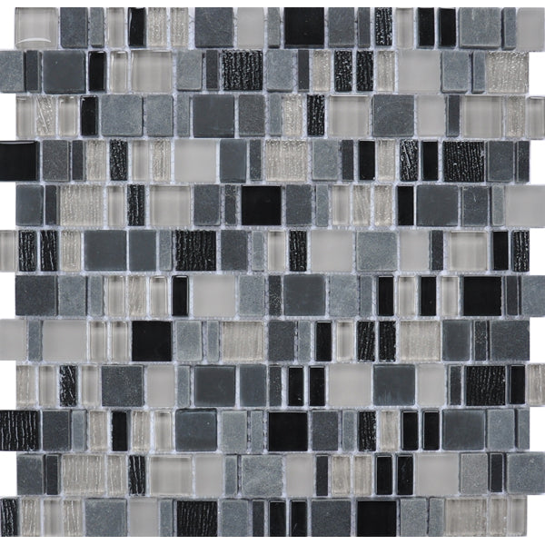 Karma Stone and Glass Mosaic Tiles - Gotham