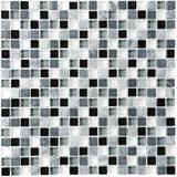 Bliss Midnight Stone and Glass Square Mosaic Tiles - Rocky Point Tile - Glass and Mosaic Tile Store