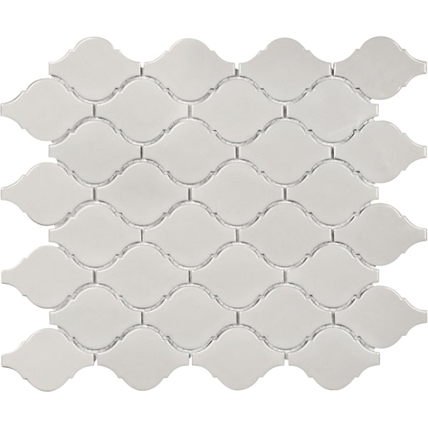 Mosaico Soho Warm Gray Gloss Arabesque Mosaic Tiles