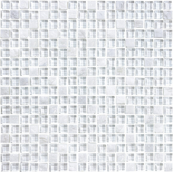 Bliss Norwegian Ice Stone and Glass Square Mosaic Tiles - Rocky Point Tile - Glass and Mosaic Tile Store