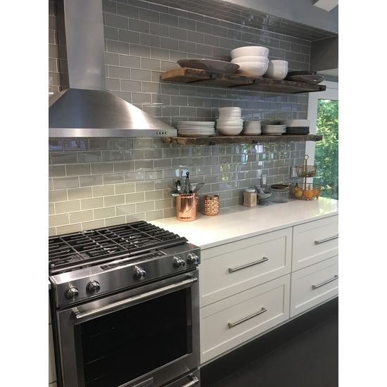 Pearl Gray 3x6 Glass Subway Tiles Rocky Point Tile