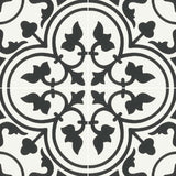 "Reverie Porcelain 8"" x 8"" Patterned Floor Tiles - Decor 1"