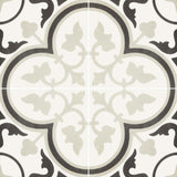 "Reverie Porcelain 8"" x 8"" Patterned Floor Tiles - Decor 6"