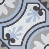 "Reverie Porcelain 8"" x 8"" Patterned Floor Tiles - Decor 8"