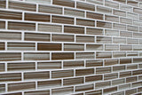 Creeks Edge Brown Hand Painted Glass Mosaic Subway Tiles - Rocky Point Tile - Glass and Mosaic Tile Store