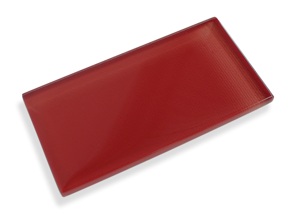 Ruby Red Made To Order Glass Subway Tiles - Rocky Point Tile - Glass and Mosaic Tile Store