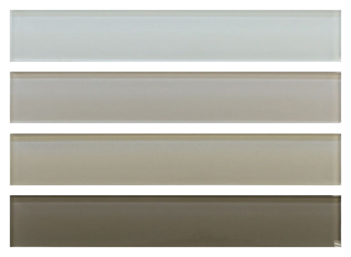 2x12 Glass Subway Tile Sample Combo Pack - Neutrals - Rocky Point Tile - Glass and Mosaic Tile Store