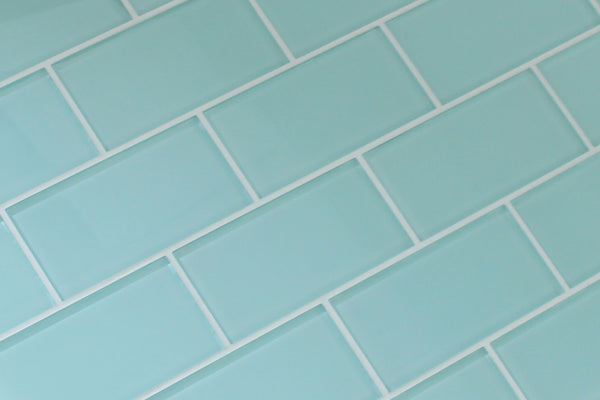 Seafoam 3x6 Glass Subway Tiles Rocky Point Tile Glass And Mosaic Tile Store