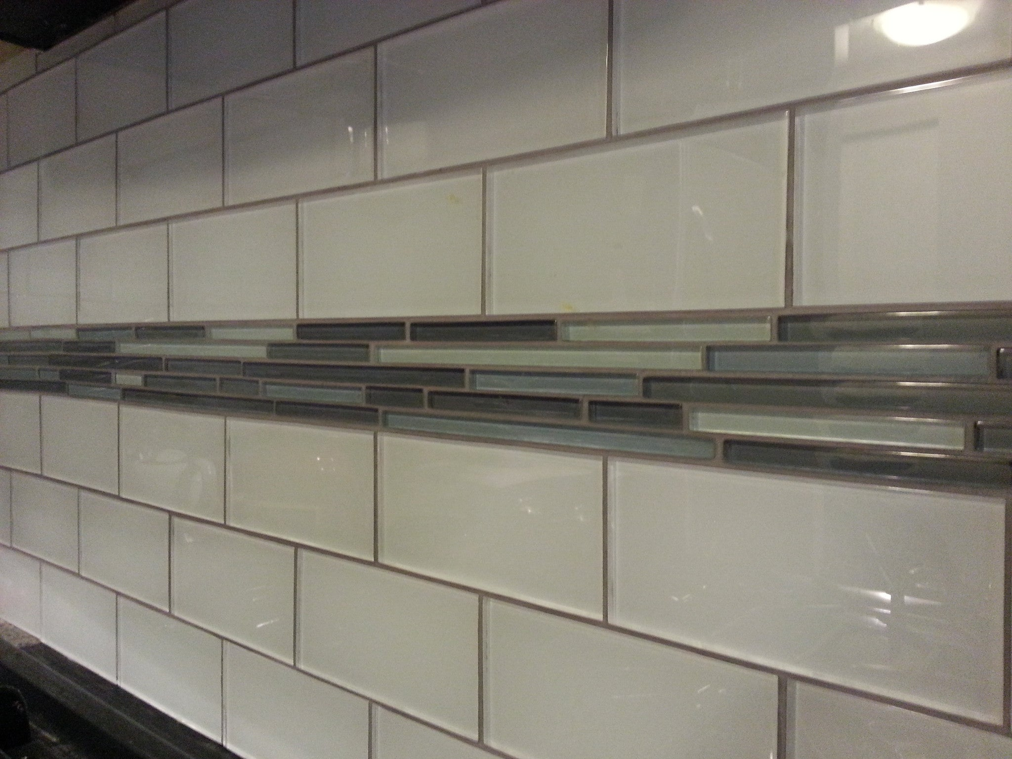 Holiday Kitchen Cabinets Snow White 3x6 Glass Subway Tiles Rocky Point Tile