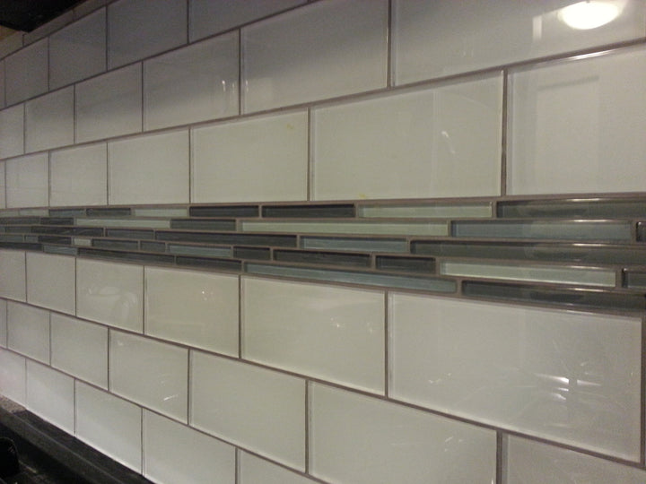... Snow White 3x6 Glass Subway Tiles - Rocky Point Tile - Glass and Mosaic  Tile Store ...