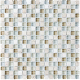 Bliss Spa Stone and Glass Square Mosaic Tiles