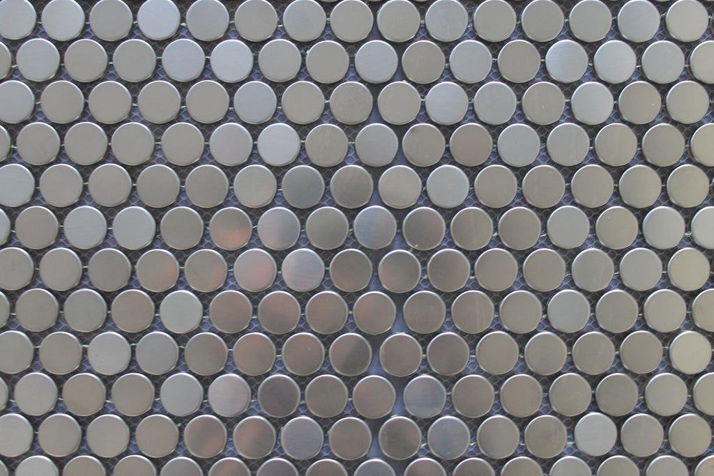 Stainless Steel Penny Round Mosaic Tiles Rocky Point