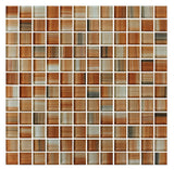 Sunset Beach Orange Hand Painted 1x1 Glass Mosaic Tiles - Rocky Point Tile - Glass and Mosaic Tile Store