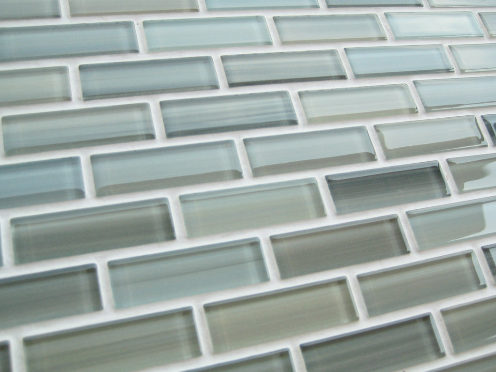 Reflections Hand Painted Glass Mosaic Subway Tile - Rocky Point Tile - Glass and Mosaic Tile Store
