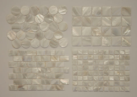 Mother of Pearl Mosaic Tile Sample Pack - Rocky Point Tile - Glass and Mosaic Tile Store