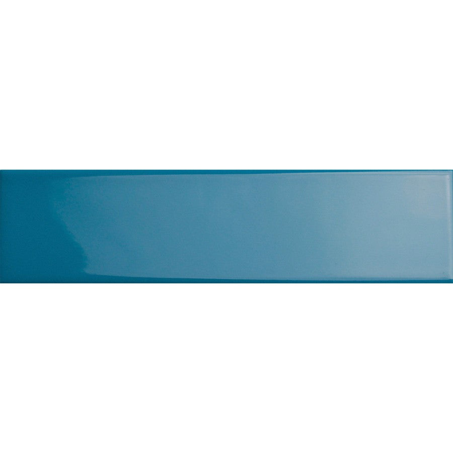 Blue Glossy Ceramic Subway Tiles - Aqua