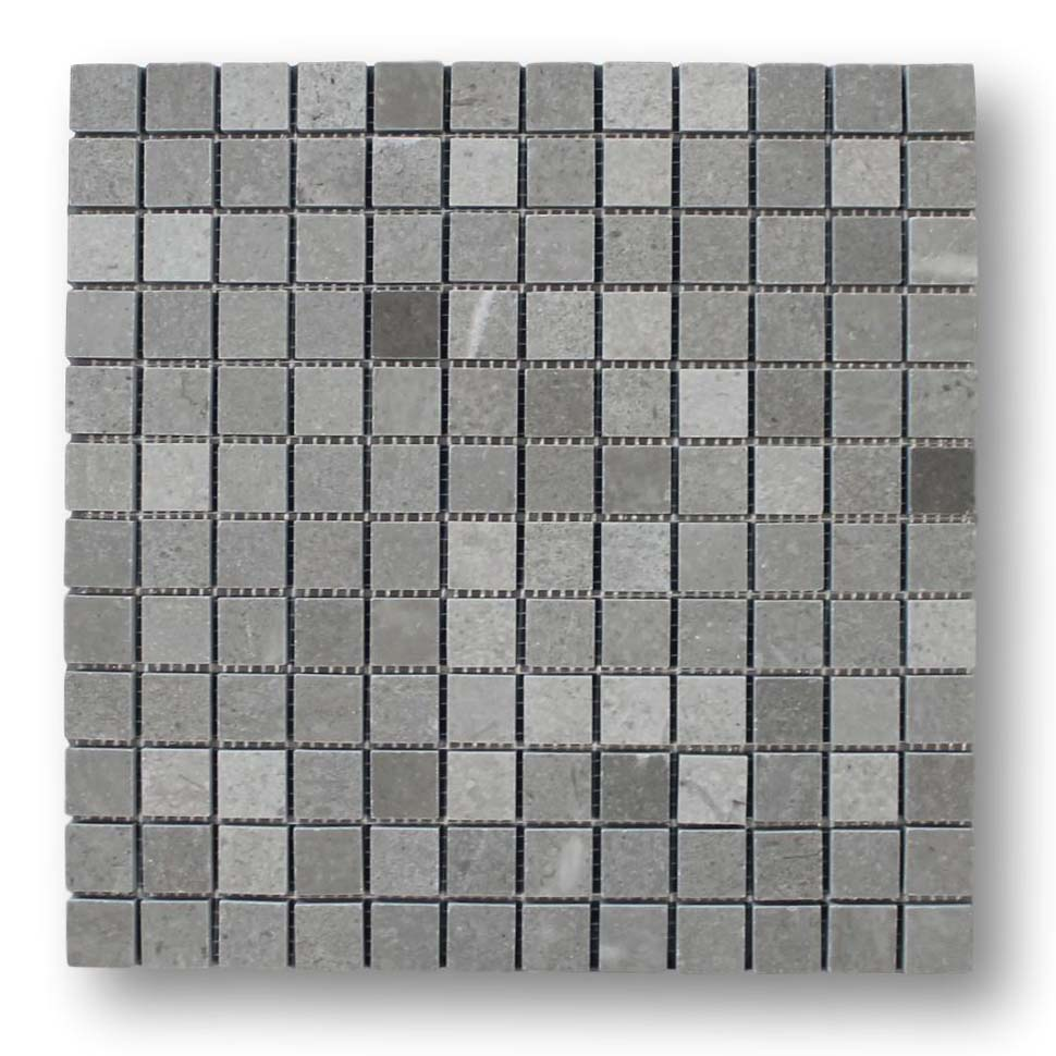 Arctic Gray 1x1 Square Marble Mosaic Tiles