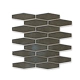 Atlanta Elongated 3D Hexagon Mosaic Tiles - Dark Gray