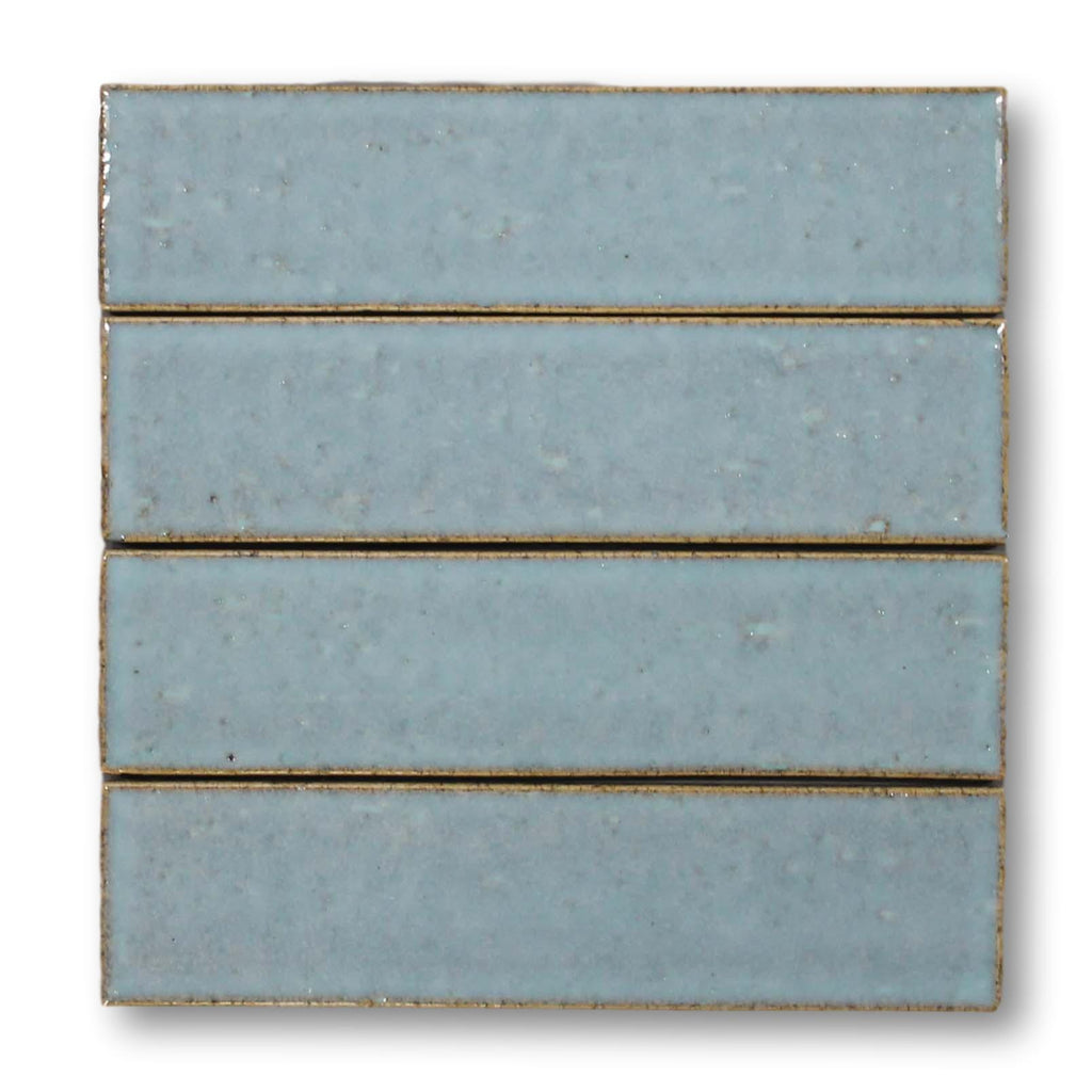 "Atlanta 9.5"" x 2.5"" Glazed Porcelain Subway Tiles - Light Blue"