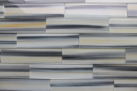 Beach Break Hand Painted 3 x 12 Glass Subway Tiles - Rocky Point Tile - Glass and Mosaic Tile Store