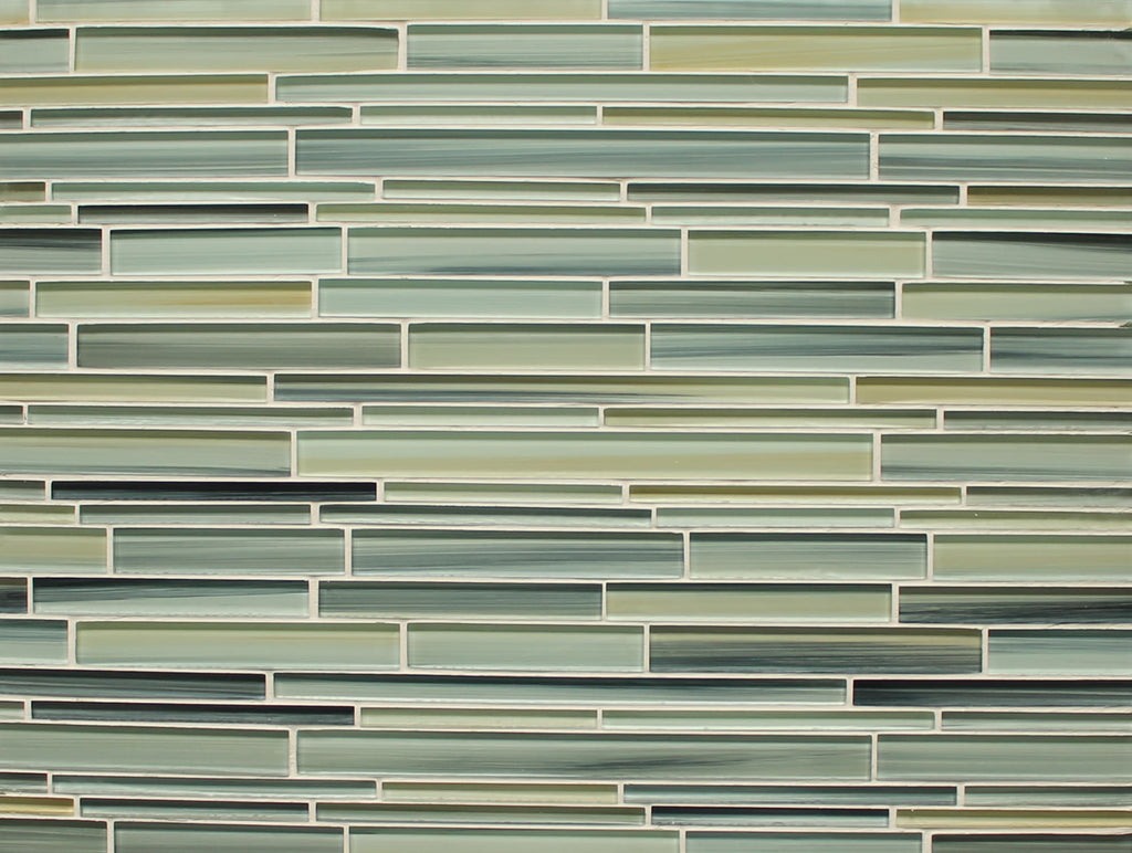 Beach Break Hand Painted Linear Glass Mosaic Tiles Rocky