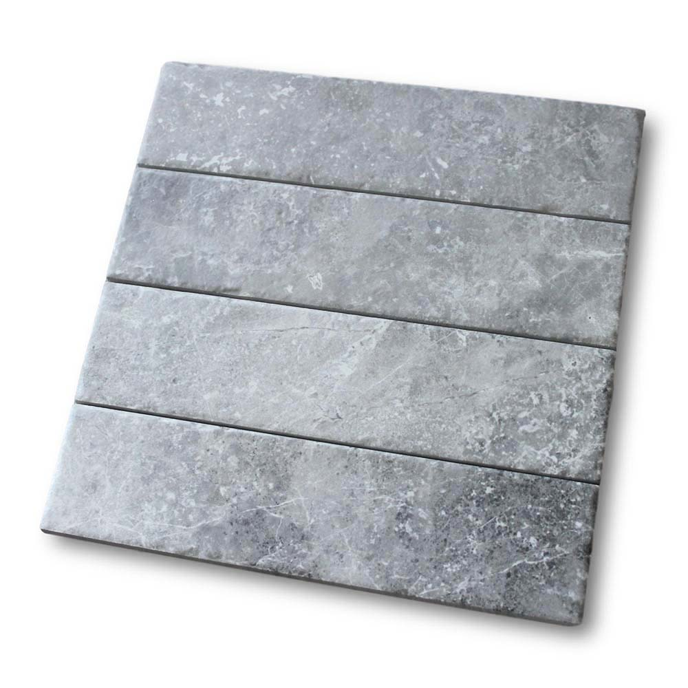 "Bistrot 3"" x 12"" Marble Look Porcelain Subway Tiles - Gray"