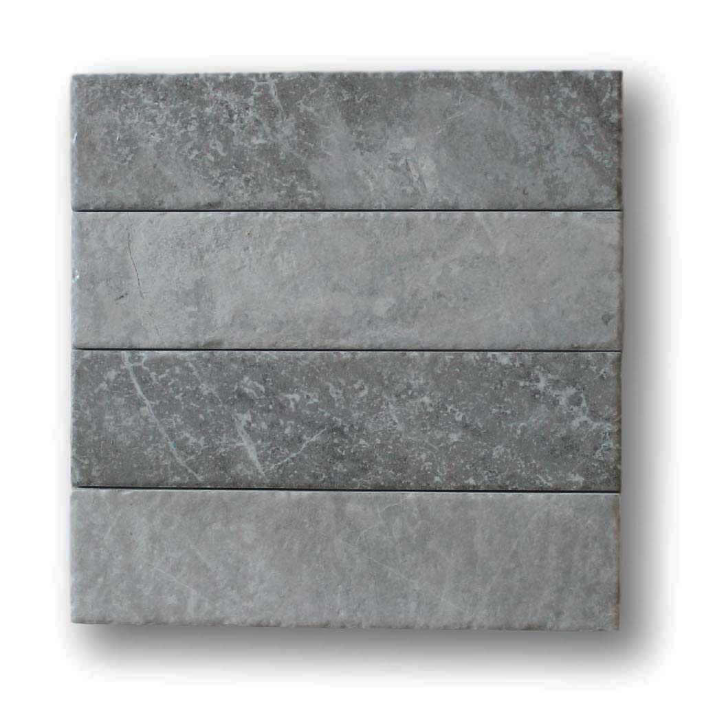 "Bistrot 3"" x 12"" Marble Look Porcelain Subway Tiles - Taupe"