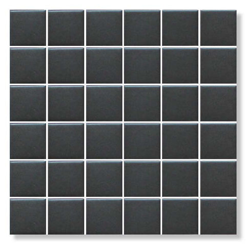 Black Glazed Porcelain 2 x 2 Mosaic Tiles - 10 Square Feet - Rocky Point Tile - Glass and Mosaic Tile Store