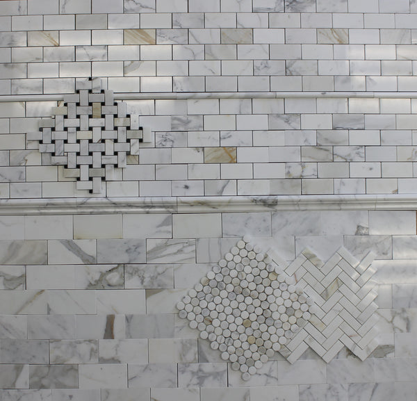 3 Quot X 6 Quot Calacatta Gold Polished Marble Subway Tiles