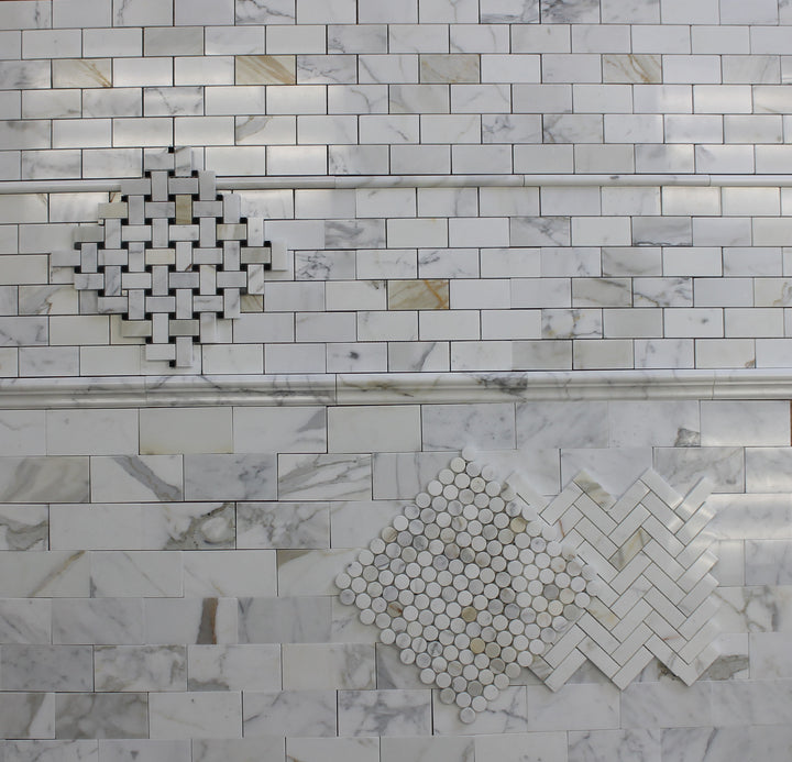 ... Calacatta Gold Polished Marble Chair Rail   Rocky Point Tile   Glass  And Mosaic Tile Store ...