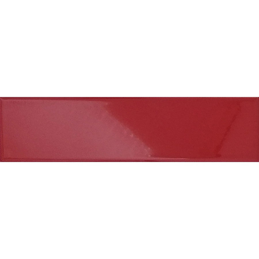 Red Glossy Ceramic Subway Tiles - Cayenne