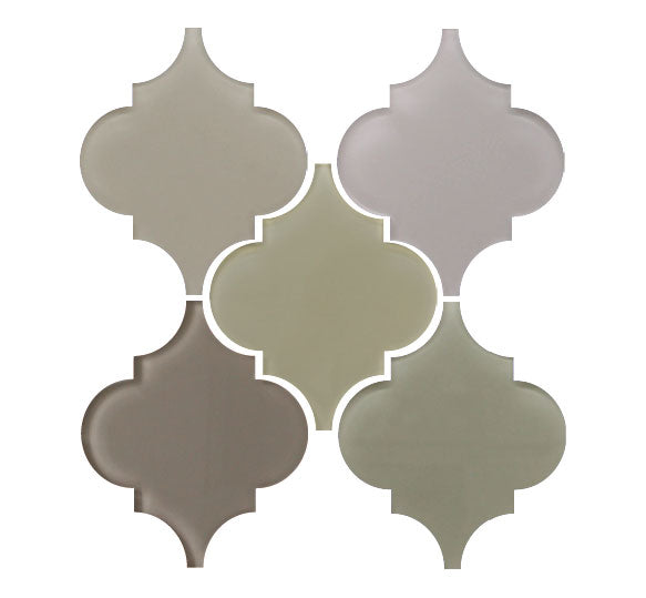 Arabesque Glass Mosaic Tile Sample Combo Pack - Neutrals - Rocky Point Tile - Glass and Mosaic Tile Store