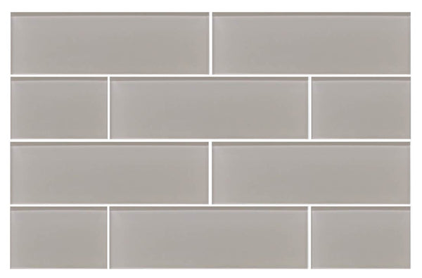 Country Cottage Light Taupe 4x12 Glass Subway Tiles