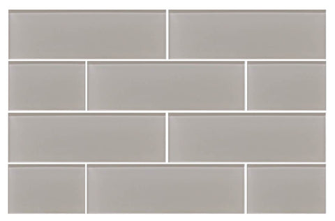 Country Cottage Light Taupe 4x12 Glass Subway Tiles - Rocky Point Tile - Glass and Mosaic Tile Store