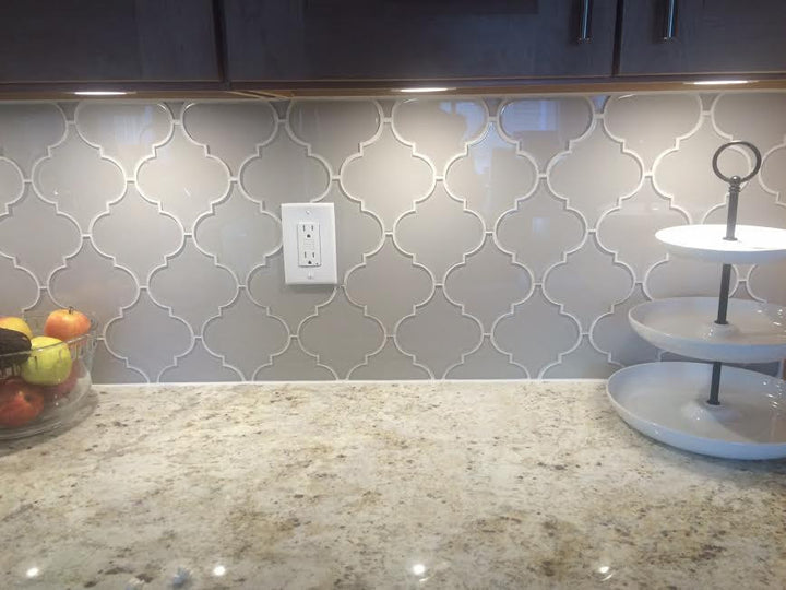 Country Cottage Arabesque Glass Mosaic Tiles Rocky Point